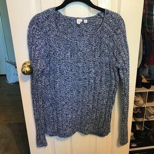 Blue Stitched Sweater